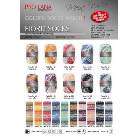 ProLana Golden Socks Fjord